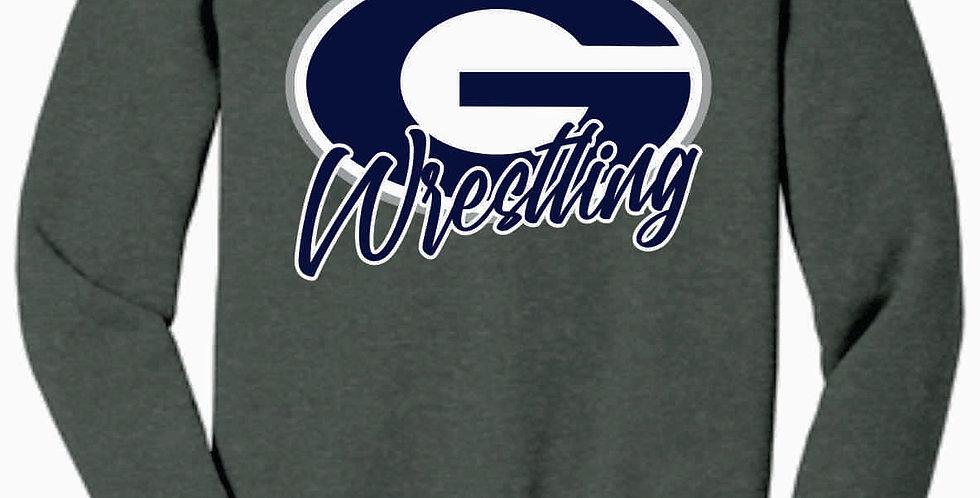 Granville Wrestling Soft Simple Grey Crewneck