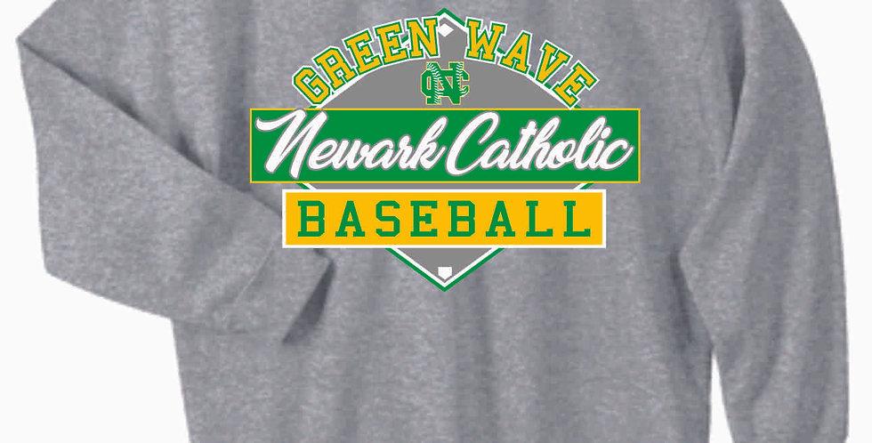 Newark Catholic Baseball Grey Cotton Crewneck
