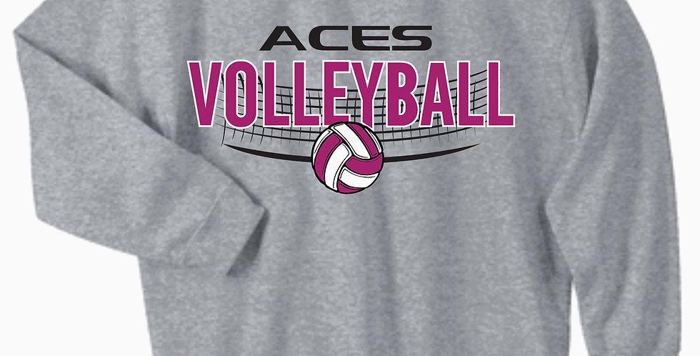 Aces Volleyball Gildan Grey Cotton Crew