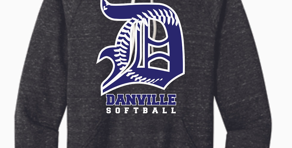 Danville Softball Jerzee Black Snow Heather Vintage Hood