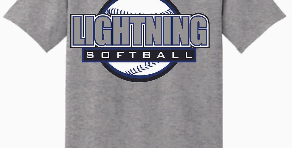 Lightning Sport Grey Cotton T Shirt