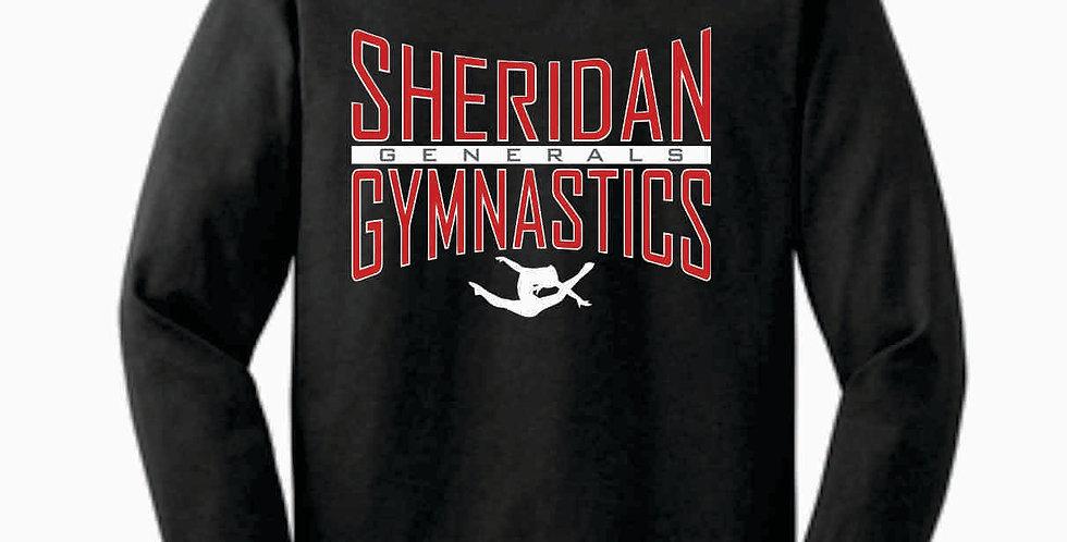 Sheridan Gymnastics Gildan Cotton Dk Grey Longsleeve