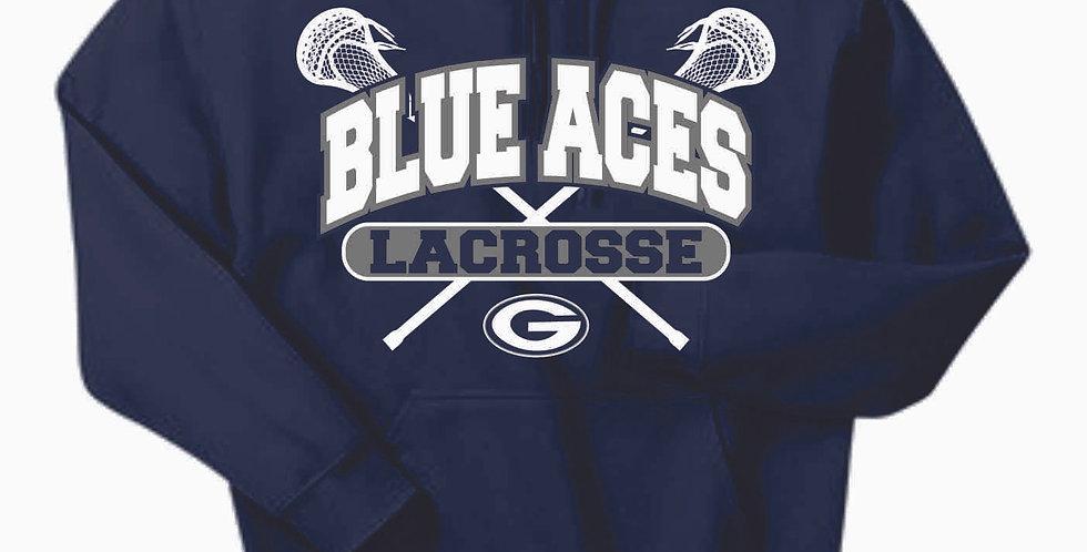 Granville Lacrosse Navy Cotton Hoody