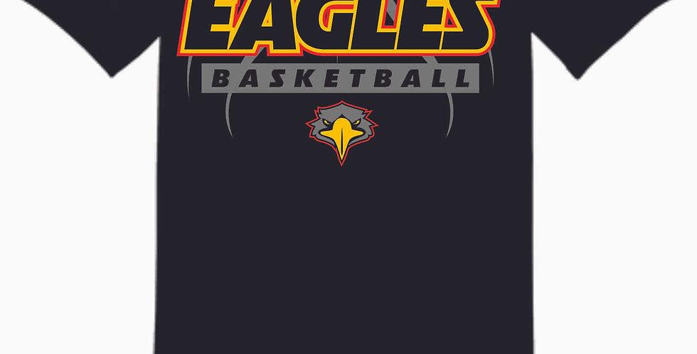 LCCA Black Basketball Cotton T Shirt