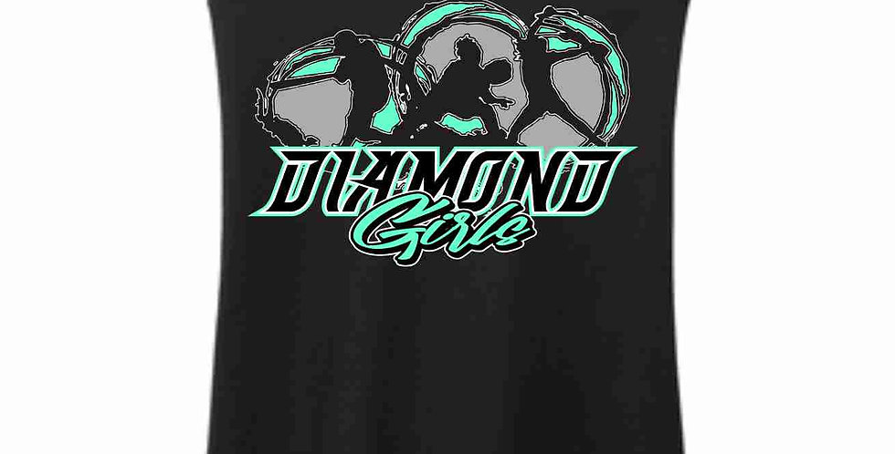 Diamond Girls Black Tank