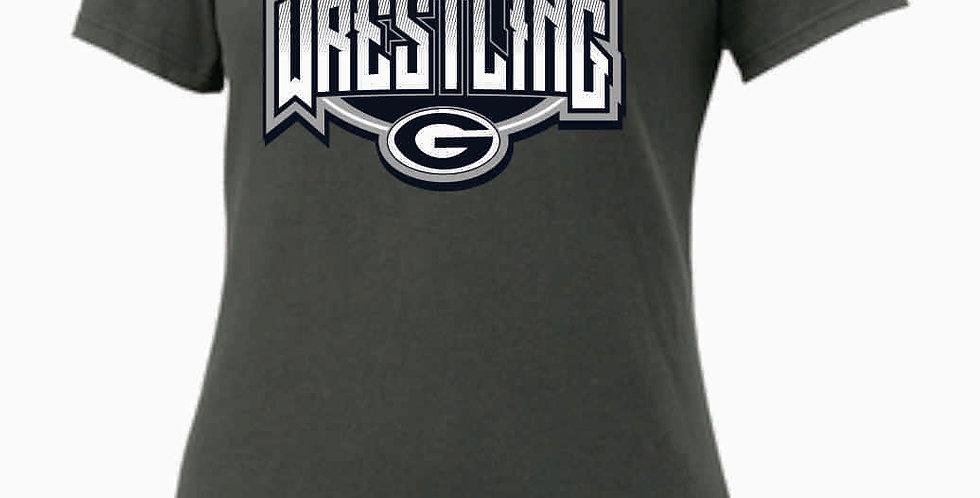 GHS Nike Wrestling Grey Ladies Core Cotton Scoop Neck Tee