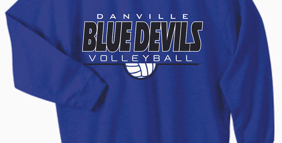 Danville Volleyball Royal Simple Cotton Sweatshirt