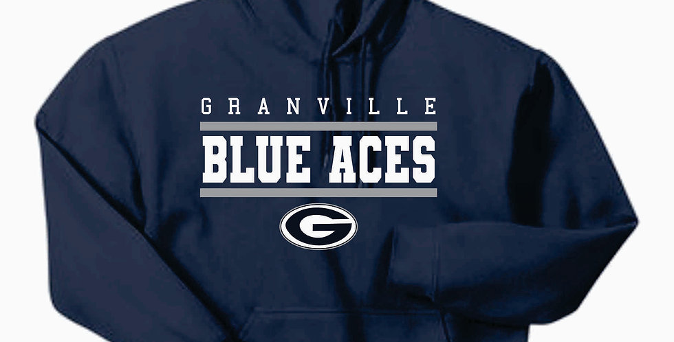 Blue Aces Navy Generic Gildan Cotton Hoody