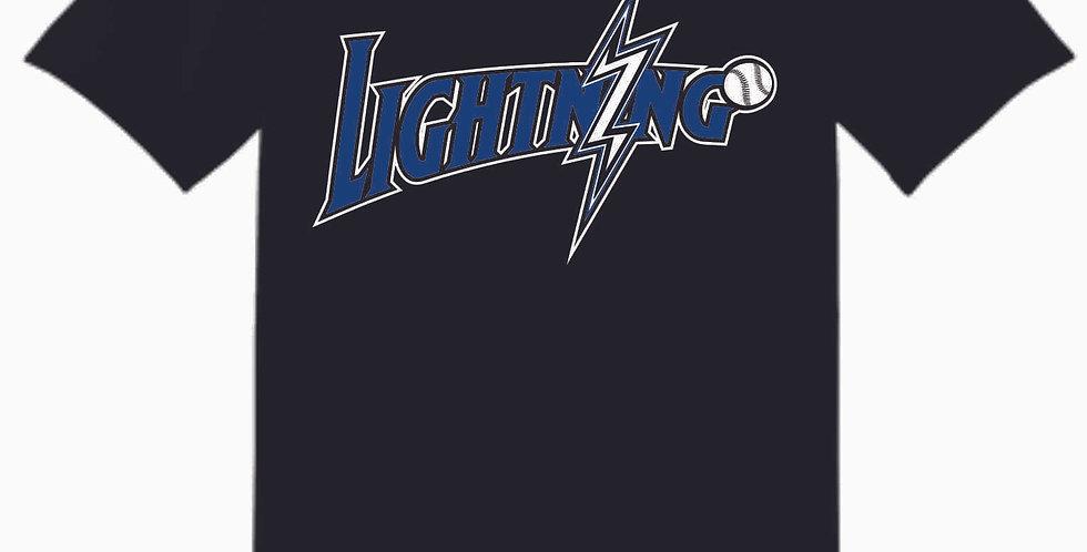 Lightning Original Black Cotton T Shirt