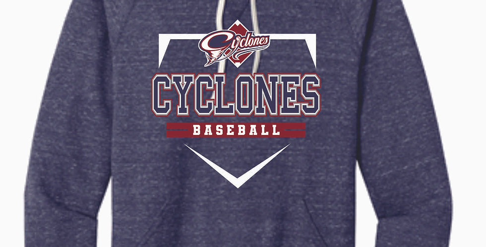 Cyclones Baseball Navy Snow Heather Hood
