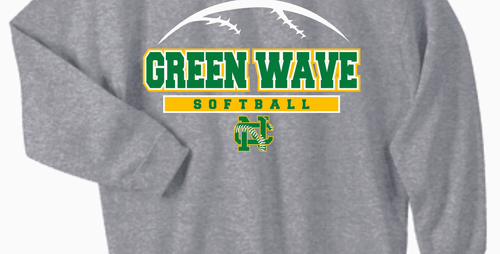 Newark Catholic Softball Grey Cotton Crewneck