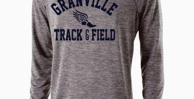 Granville Track and Field Grey Dri Fit Longsleeve