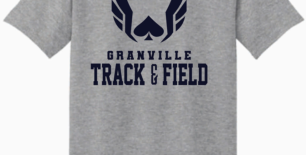 Granville Track and Field Original Grey Cotton T Shirt