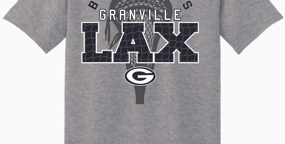 Granville LAX Grey Cotton T Shirt