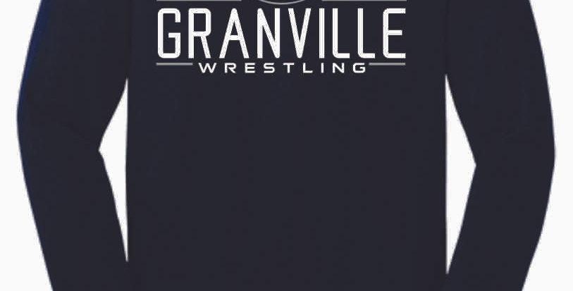 Granville Wrestling Navy Cotton Longsleeve
