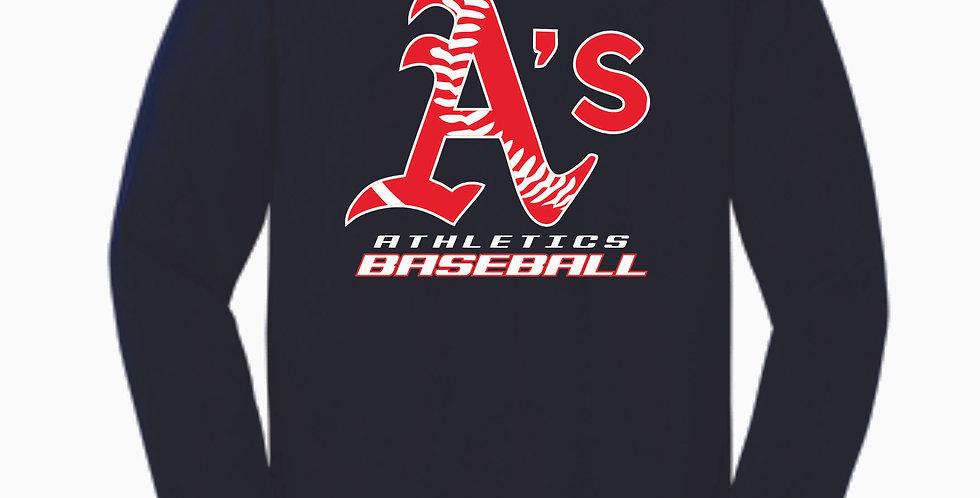 A's Baseball Navy Cotton Longsleeve