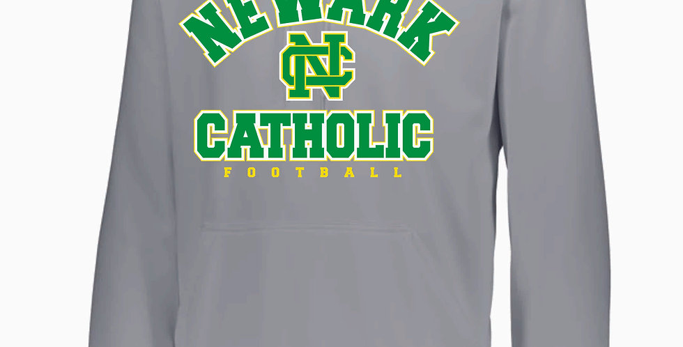 NC Football Grey Poly Hoody