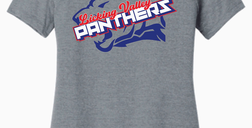 Licking Valley Grey Panther Head Women's T