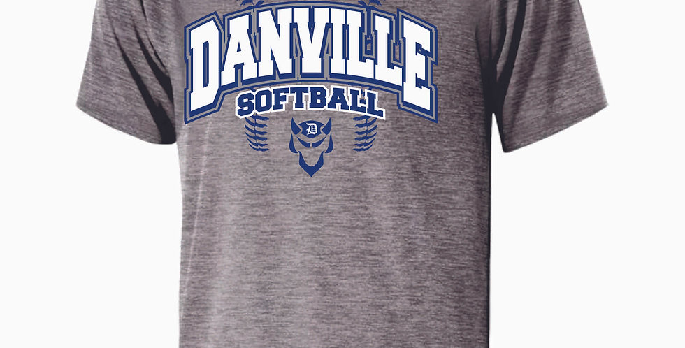 Danville Softball Grey Dri Fit Shortsleeve
