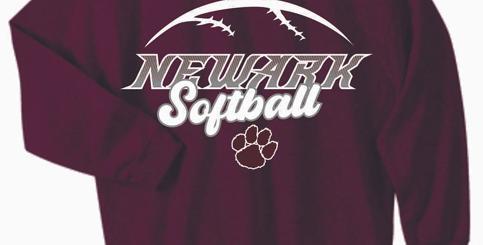 Newark Softball Maroon Cotton Crewneck