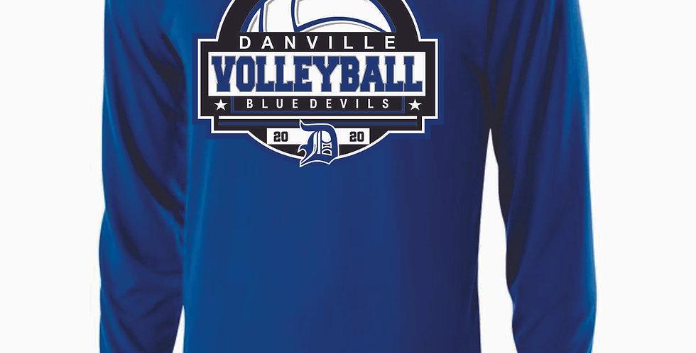 Danville Volleyball Royal Longsleeve Dri Fit