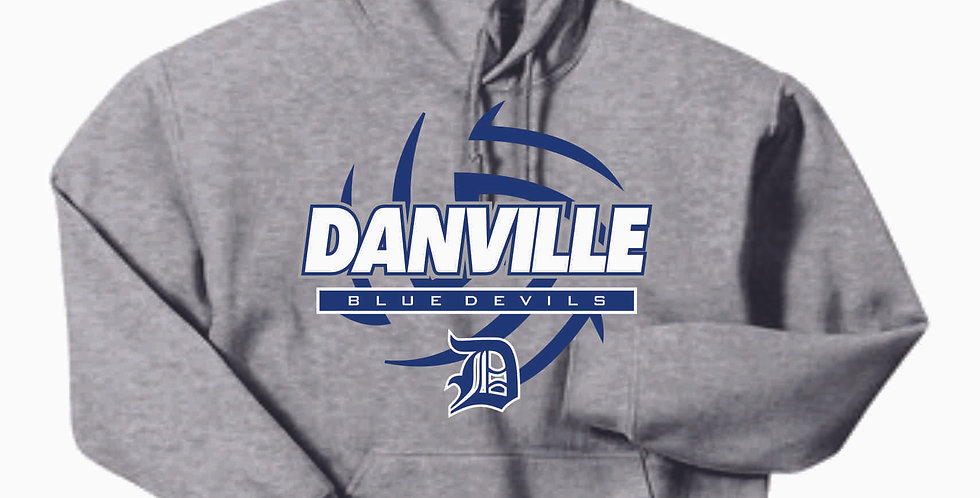 Danville Volleyball Grey Cotton Hoody