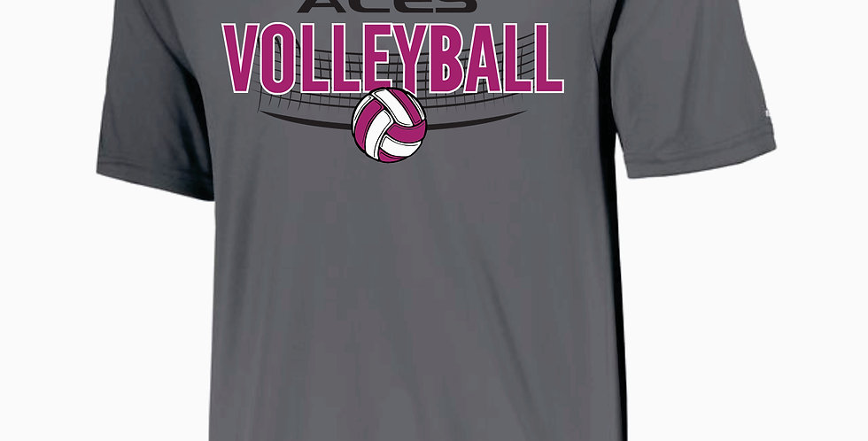 Aces Volleyball Augusta Grey Practice Dri Fit Shortsleeve