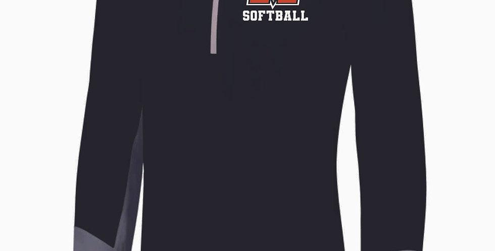 Mount Vernon Softball Black Hybrid Pullover