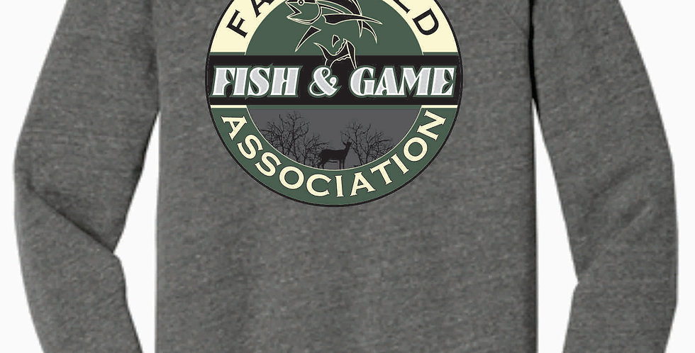 Fairfield Fish and Game Grey Bella Soft Crew