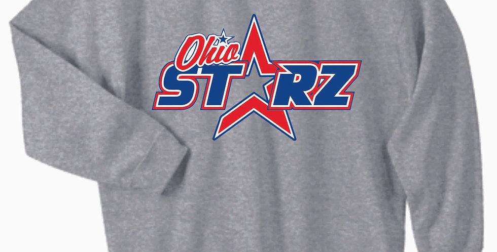 Ohio Starz Grey Logo Cotton Crew