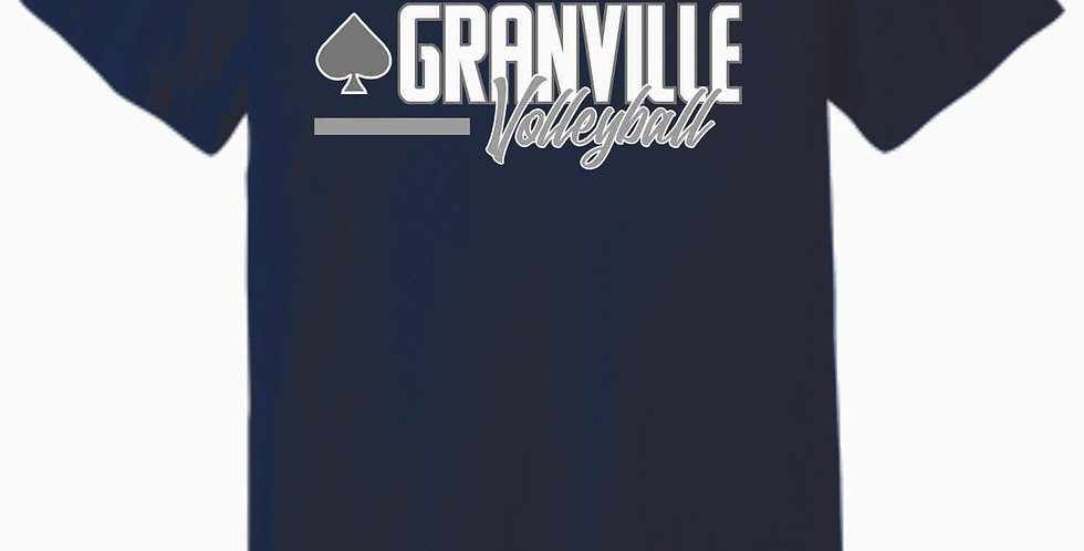 Granville Volleyball Navy Soft T
