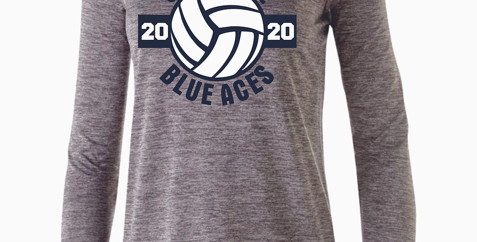 Granville Volleyball Grey Dri Fit Long Sleeve