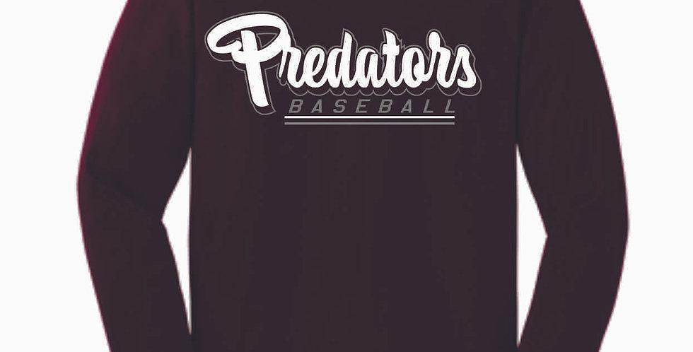 Predators Gildan Cotton Maroon Longsleeve