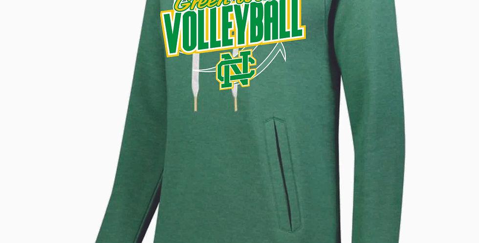 NC Volleyball Kelly Green Ladies Hoody