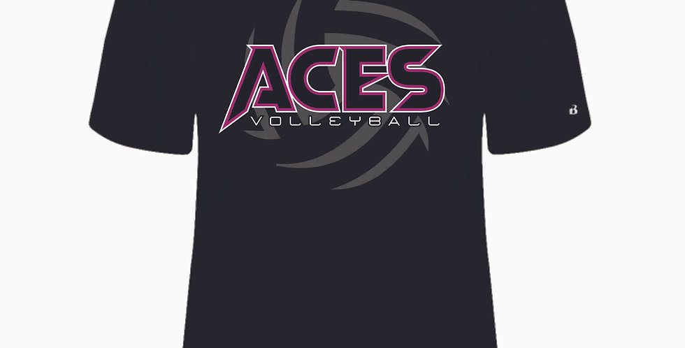 Aces Volleyball Black Dri Fit Shortsleeve