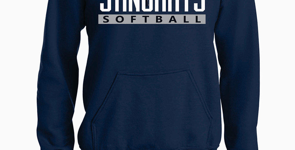 Rays Navy Cotton Hooded Sweatshirt