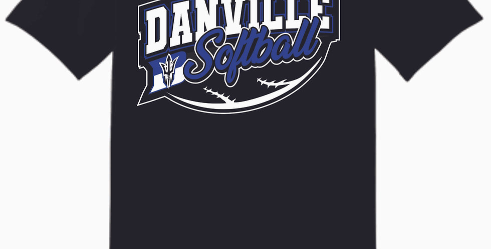 Danville Softball White Cotton T Shirt