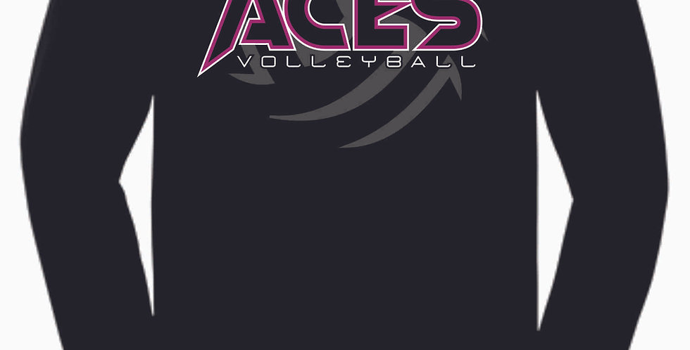 Aces Volleyball Black Cotton Longsleeve Tee