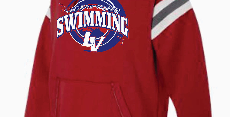 Licking Valley Swimming Red J America Grey Script Simple Hood