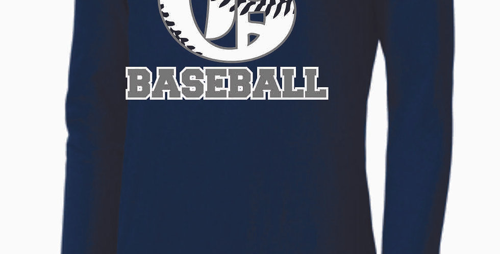 Granville Baseball Navy Nike Longsleeve