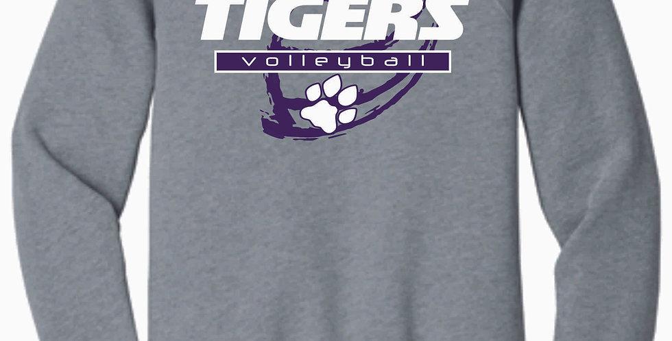 Tiger Volleyball Grey Ball Soft Crew