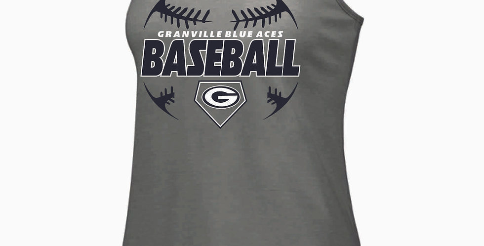 Granville Baseball Grey Tri Blend Tank