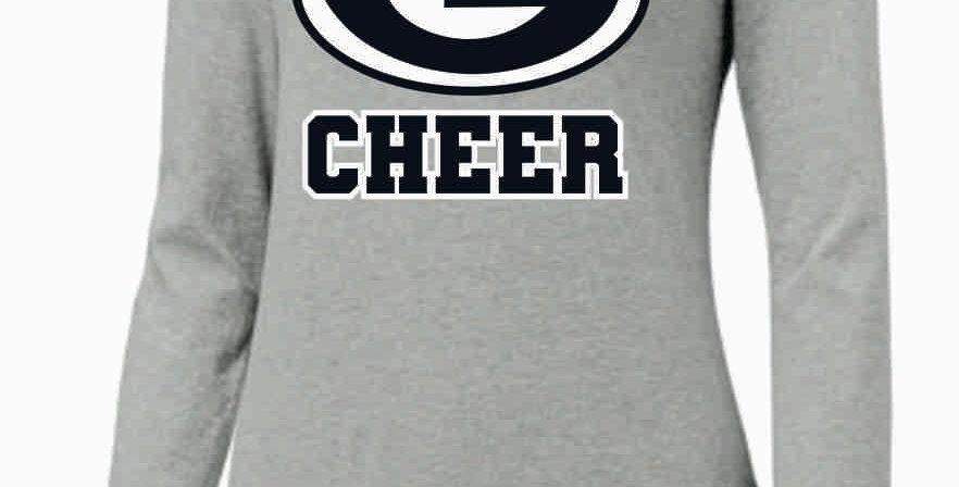 GHS Cheer Generic Lt Grey Nike Ladies Core Cotton Long Sleeve Scoop Neck Tee