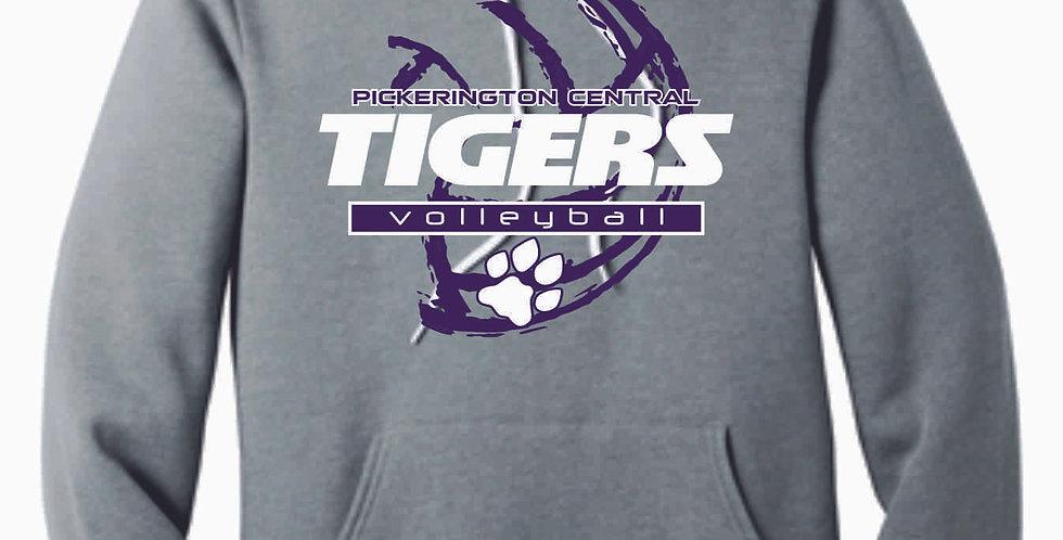 Tiger Volleyball Grey Ball Soft Hoody