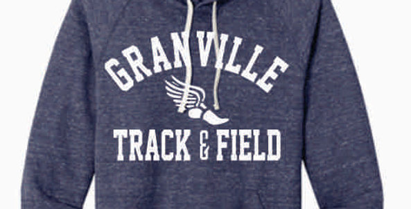 Granville Track and Field Navy Soft Hoody