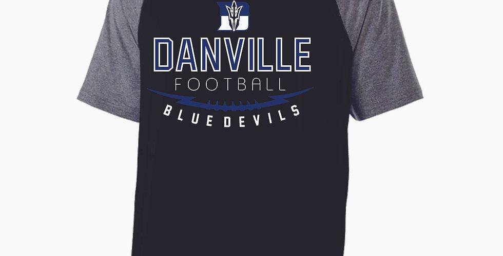Danville Football Black Shortsleeve Poly Hood