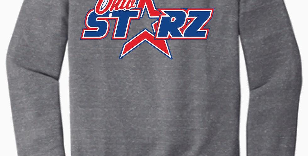 Ohio Starz Grey Logo Jerzee Vintage Snow Heather Crewneck