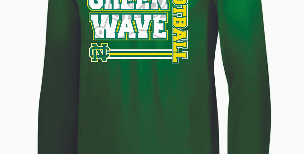 NC Football Kelly Green Longsleeve Dri Fit