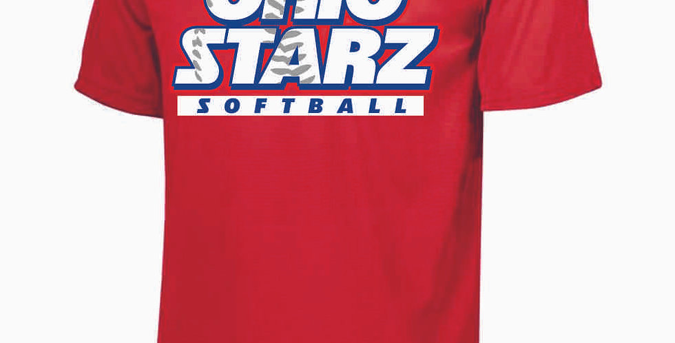 Ohio Starz Red Dri Fit Shortsleeve