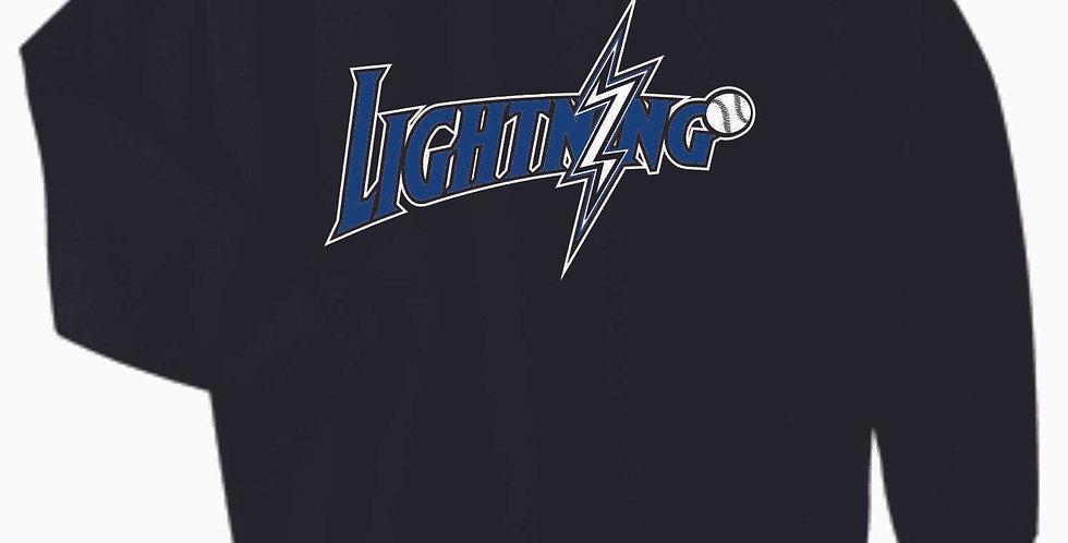 Lightning Original Black Cotton Crew